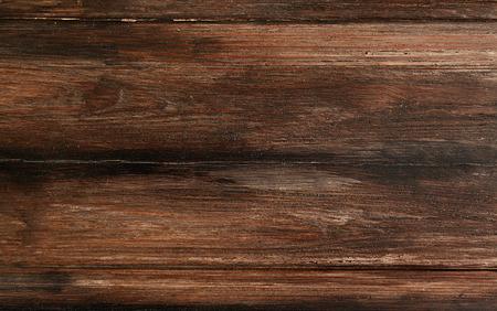 テクスチャー: 素朴な木製の背景平面図、暗い木目のデザイン 写真素材