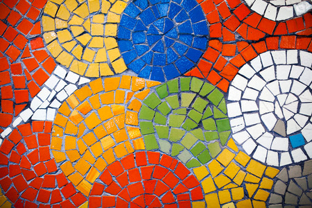 Colorful mosaic tiles Stock Photo