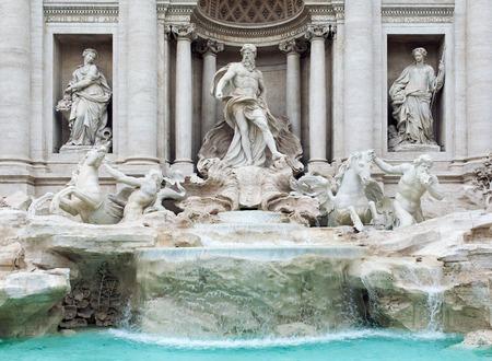 fontana: Fontana di Trevi, Rome, Italy. Close-up Stock Photo