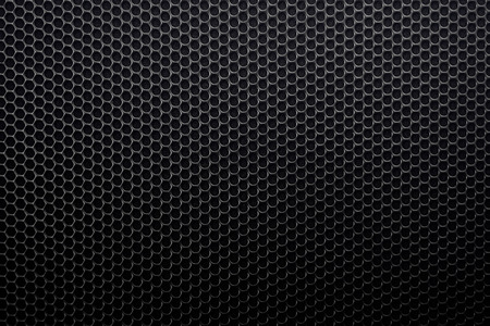 black metal grid background with circles