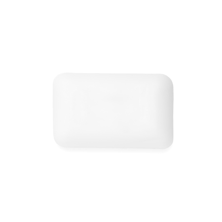 white soap isolated on white background
