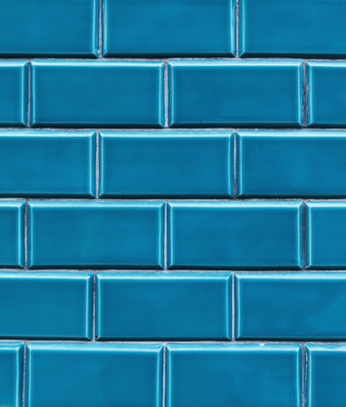 tiled wall: blue vintage tiled wall Stock Photo