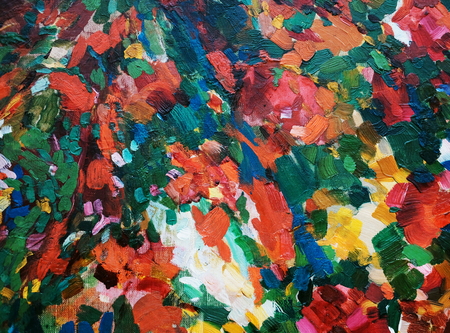 abstract colorful oil painting on canvas brush strokes Reklamní fotografie