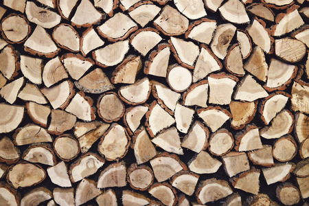firewood background: stack of firewood background