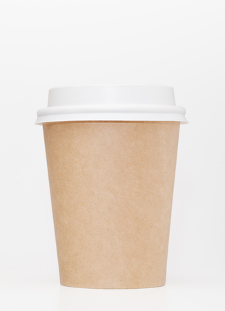 thermo: take out coffee in thermo cup on a white background Stock Photo