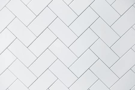 cerámicas: fondo blanco pared de azulejos de cerámica de ladrillo Foto de archivo