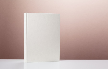 front view: front view of blank hardcover book