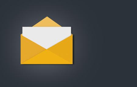 mail: flat mail letter icon Stock Photo