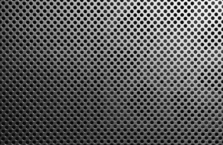 grids: iron grid texture background silver metal pattern with reflective round holes