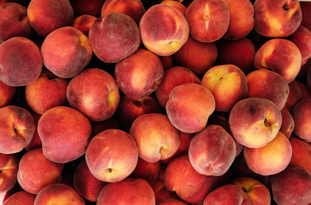 group of ripe peaches background 写真素材