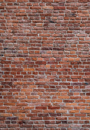 oude rode bakstenen muur verticale textuur achtergrond Stockfoto