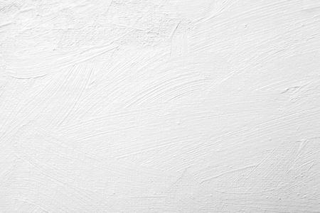 abstract white brush stroke oil paint texture on canvas Stockfoto