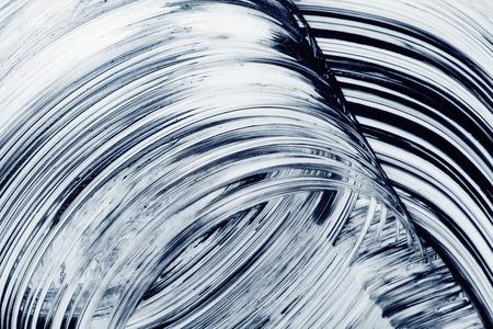 courbes grunge coups de pinceau peint à la main abstrait
