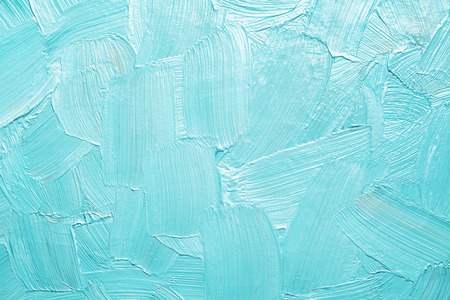 abstract oil paint texture brush strokes of paint turquoise tones background Reklamní fotografie
