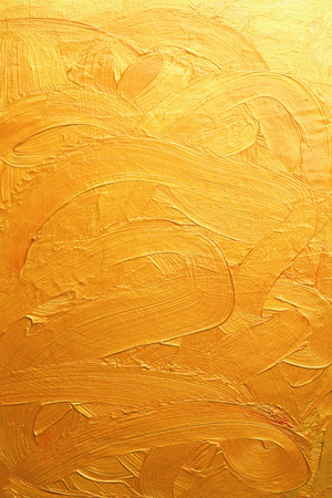golden painting brush strokes and curves  abstract background Reklamní fotografie