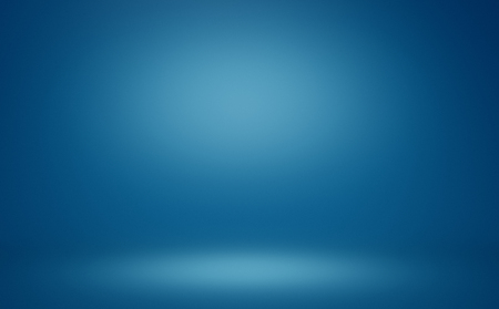 clear empty photographer studio background abstract, background texture of dark and light clear blue gradient flat wall and floor in empty spacious room