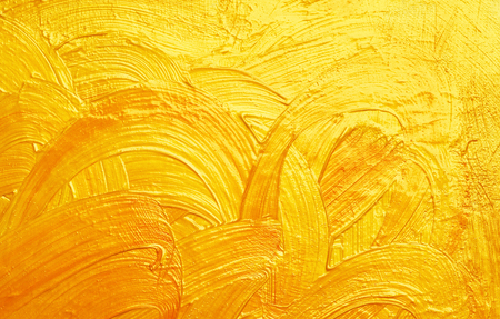 brush strokes and curves gold abstract background