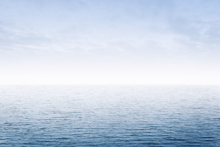 calm ocean and blue sky at morning time sea background