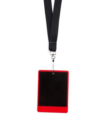 mockup card badge isolated on white background, staff identity card on white background