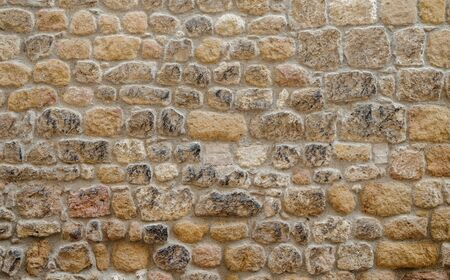 yellow stone wall texture background, part of  old castle stone wall background texture
