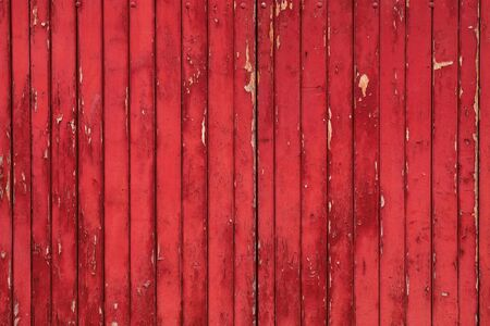 red rustic grunge wooden wall background Stock Photo
