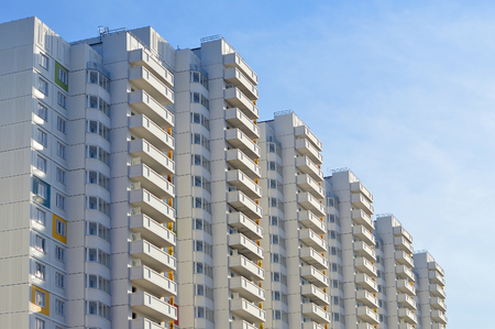 The new multi-storey residential building
