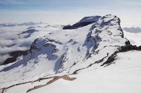 alpinist: Climbing Pelmo Stock Photo