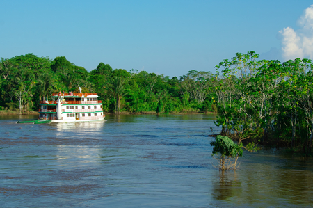 MANAUS, BR - CIRCA AUGUST 2011 - Boat on the Amazon river circa August 2011 in Manaus.
