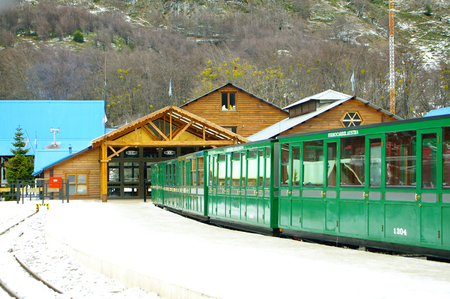ag: USHUAIA,AG - CIRCA JULY 2011 - Old train in the southernmost station of the world. Editorial