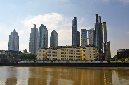 ag: BUENOS AIRES,AG -CIRCA JULY 2011. View of Puerto Madero, modern part of Buenos Aires.
