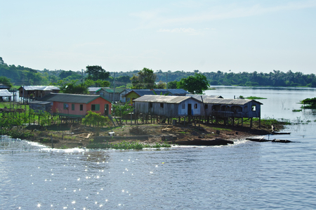 br: Manaus, BR - House on the Amazon river