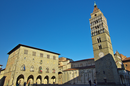 PISTOIA,IT - AUGUST,28 2016 - View of the central square Editorial