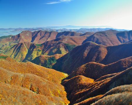 appennino: Autumn colors in the Italian Appennines, Corno alle Scale Stock Photo