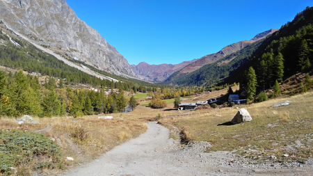 courmayeur: Landscape of the Val Ferret, in the Mt.Blanc massif