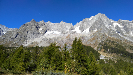 courmayeur: Landscape from Val Ferret, in the Mt.Blanc massif