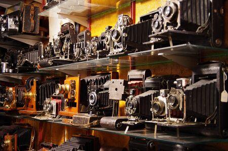 dec: LONDON,UK - 01 DEC 2016 - Vintage cameras in Portobello Market Editorial