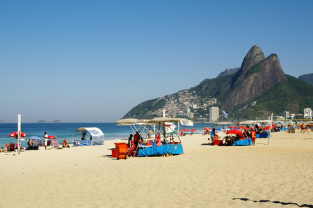 RIO DE JANEIRO, BR - CIRCA AUGUST 2011 - The famous beach of Ipanema, one of the most famous in the world.