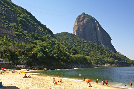 br: RIO DE JANEIRO, BR - CIRCA AUGUST 2011 - The Sugarloaf (Pao de Azucar) is the most famous landmark of Brasil.