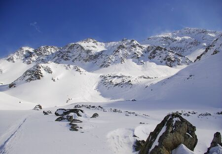 anton: Snowy Peaks: Arlberg Stock Photo