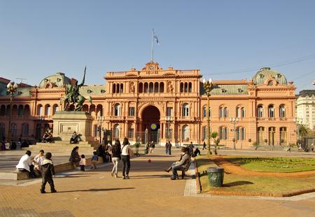 evita: B.AIRES, AG - CIRCA JULY 2011 - Casa Rosada, the presidential house in Argentina.