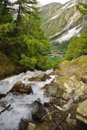 Alpine creek on the trail to Refuge Sella, in the Gran Paradiso National Park.