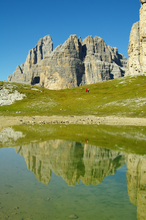 Cengia lake, near Tre Cime di Lavaredo in Italian Dolomites