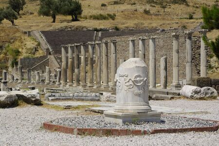 The ruins of Pergamon, with the Asclepion where Hippocrates started his works.