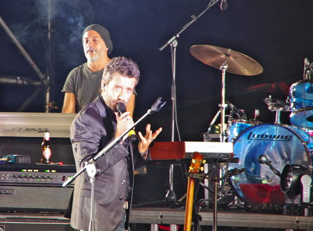 daniele: Fiesole, IT - July 25, 2017 - The italian singer and songwriter Daniele Silvestri performs at the roman theater of Fiesole. Editorial