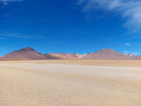 Desert of Bolivia looks like paintings by Salvador Dalì. Andean altiplano of Bolivia, South America