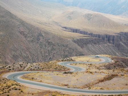 Curvy road from Cuesta de Lipan to Quebrada de Humahuaca