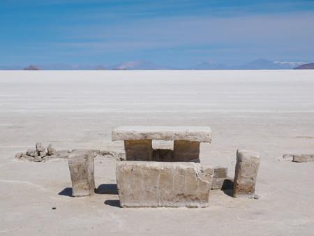 The incredible salt flat of Salar de Uyuni, on the andean altiplano of Bolivia, South America
