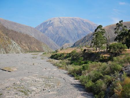 The scenic view of Quebrada del Toro, red rocks and cactus