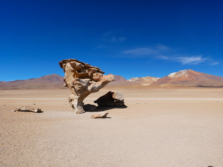 Andean altiplano of Bolivia, South America. Siloli desert is a plateau at 4500m on the sea level