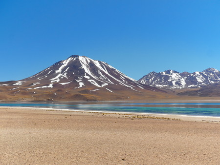 Laguna Miscanti in the Chilean Andes. The desert of Atacama in the north of Chile is the driest region on earth.